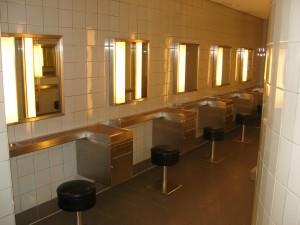 Auch die Damentoiletten sind extarvagant ausgesattet
