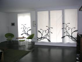 Vorhang Großstadtpflanzen