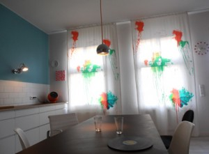 Farbbeutel Vorhang