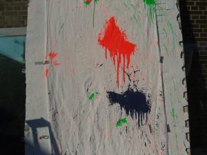 Farbbeutel-Vorhang