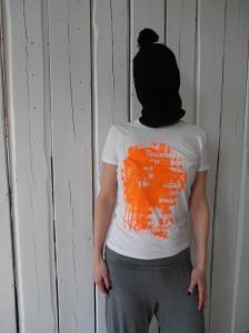 Shirt Farbbeutel orange