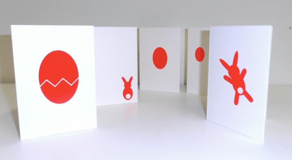 Neon Hasen und Neon Eier