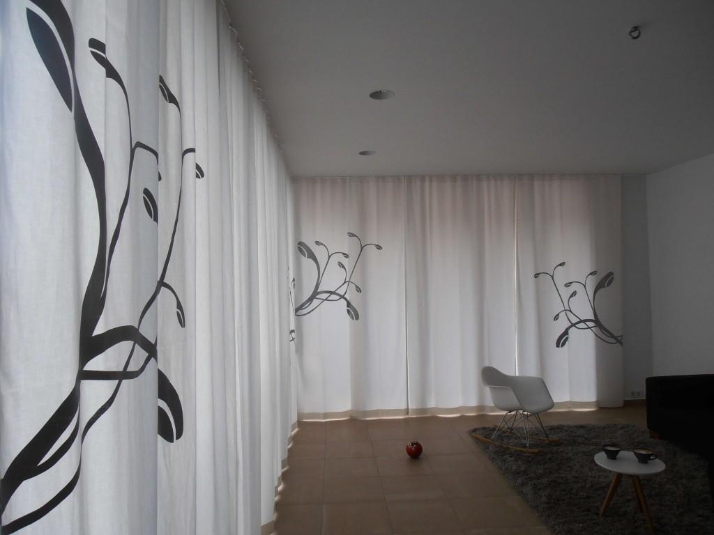 Vorhänge mit Großstadtpflanzen Motiv
